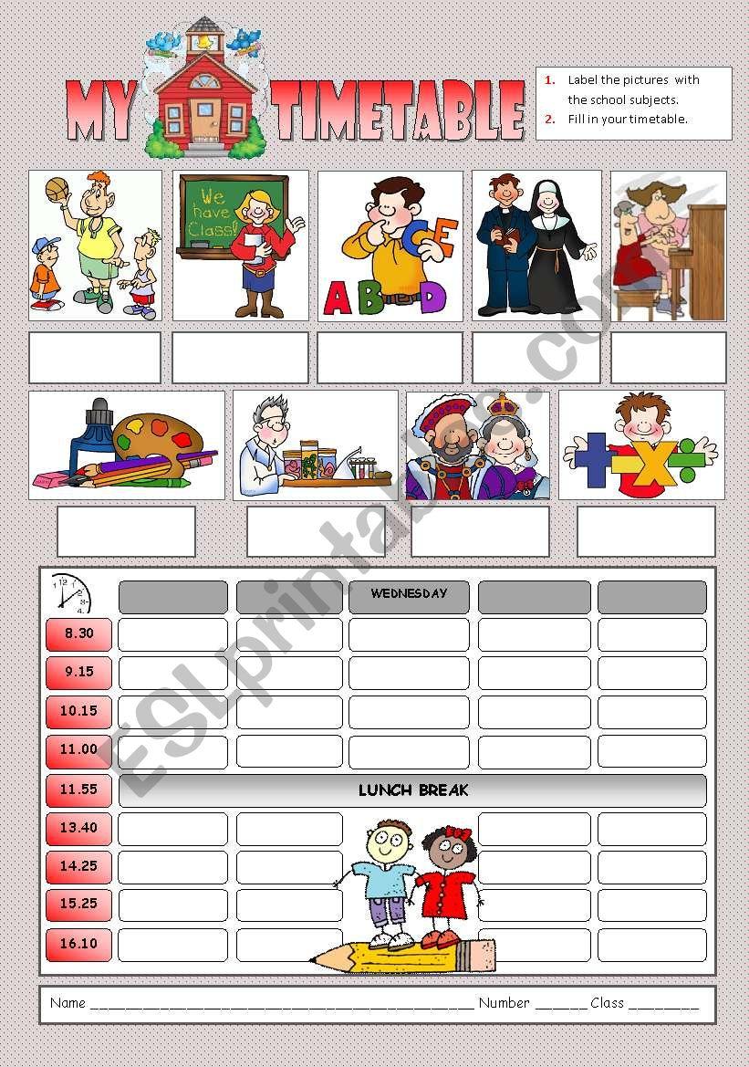 My School Timetable