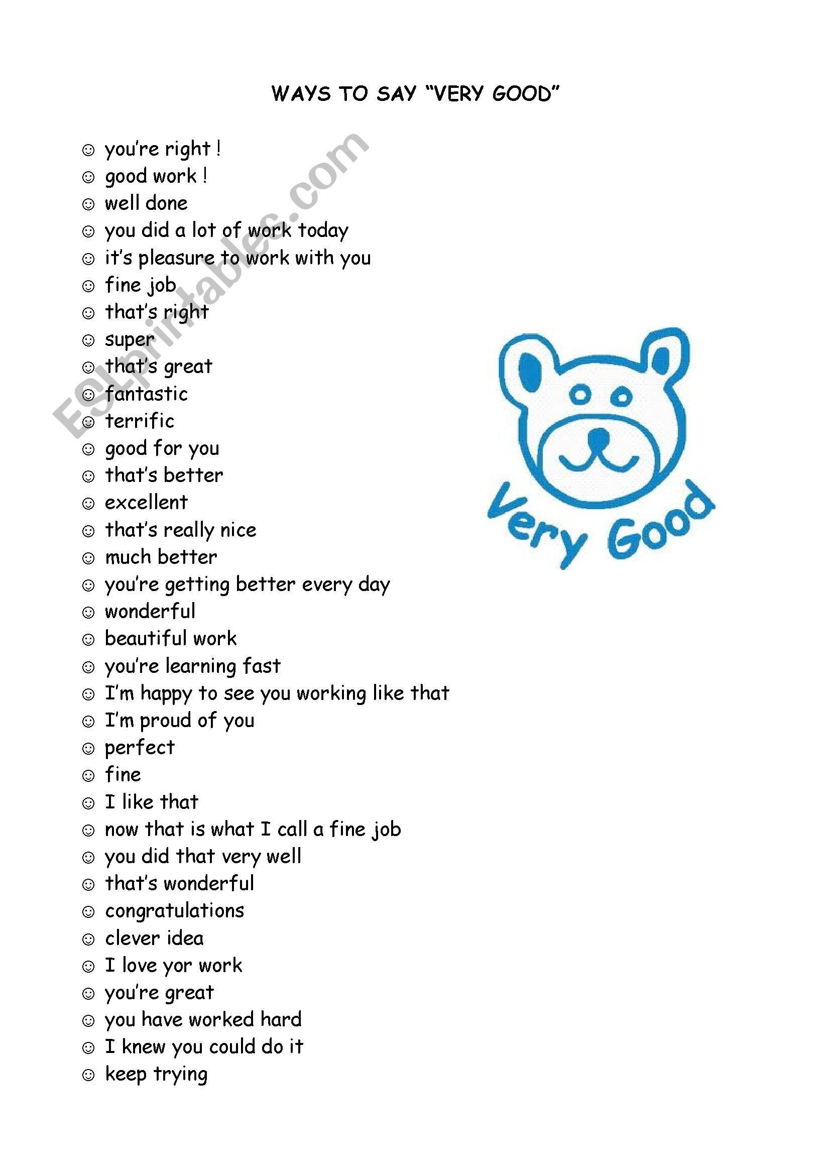 Ways To Say Good