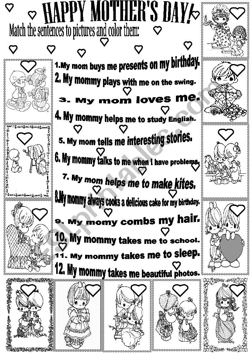 Happy Mother S Day Esl Worksheet By Beauty And The Best