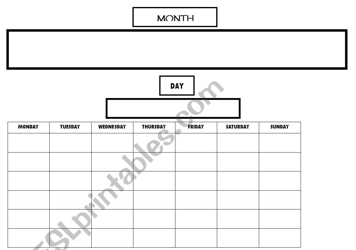 A Permanent Calendar