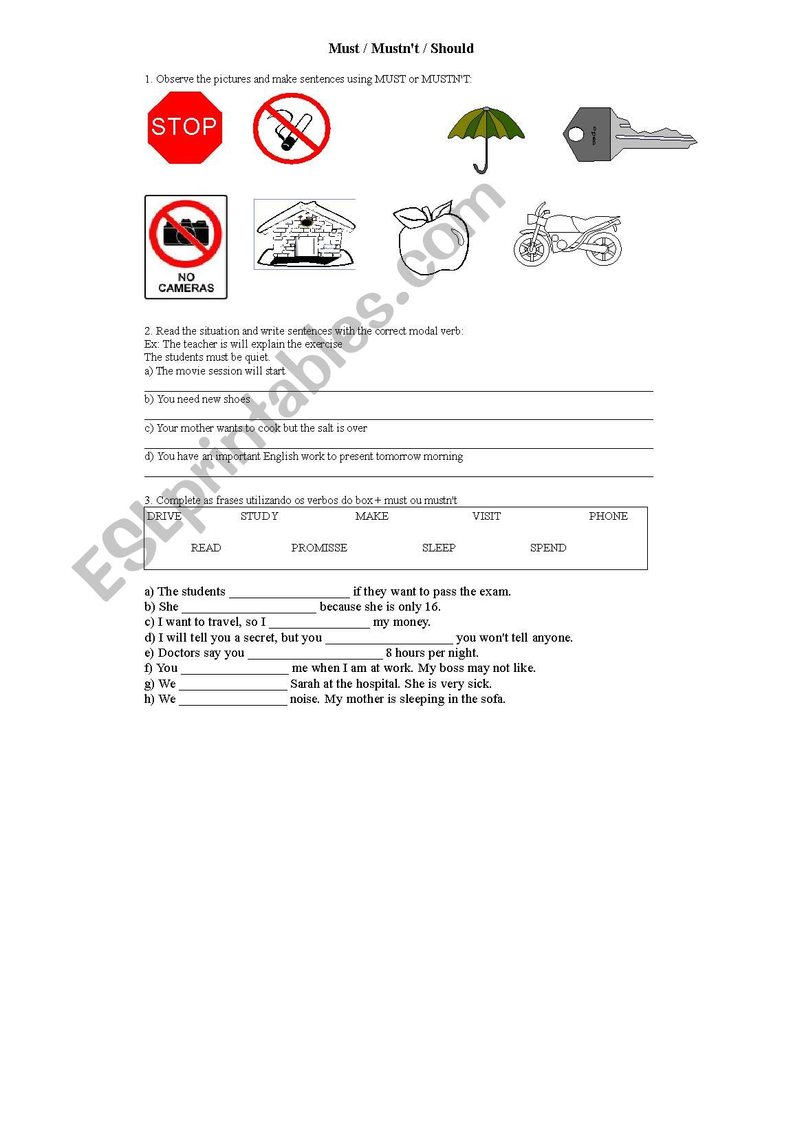 English Worksheets Test For High School