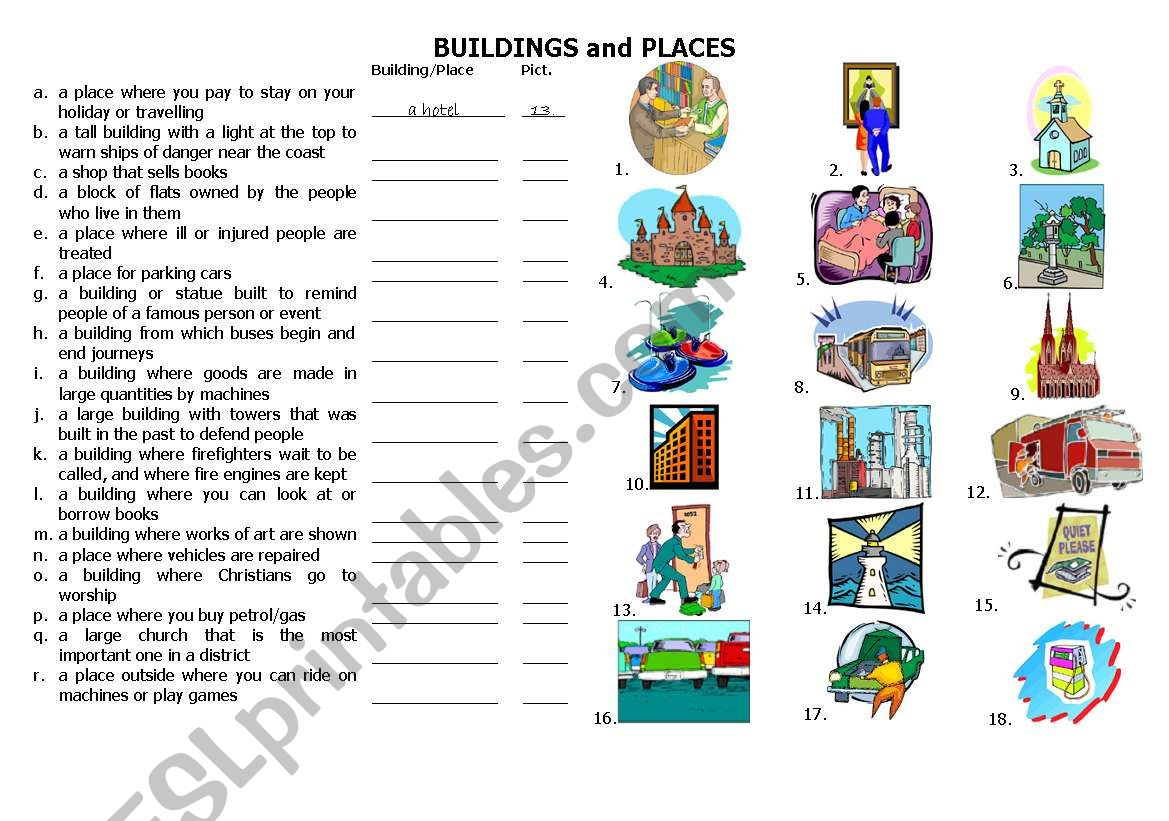 Buildings And Places P 1
