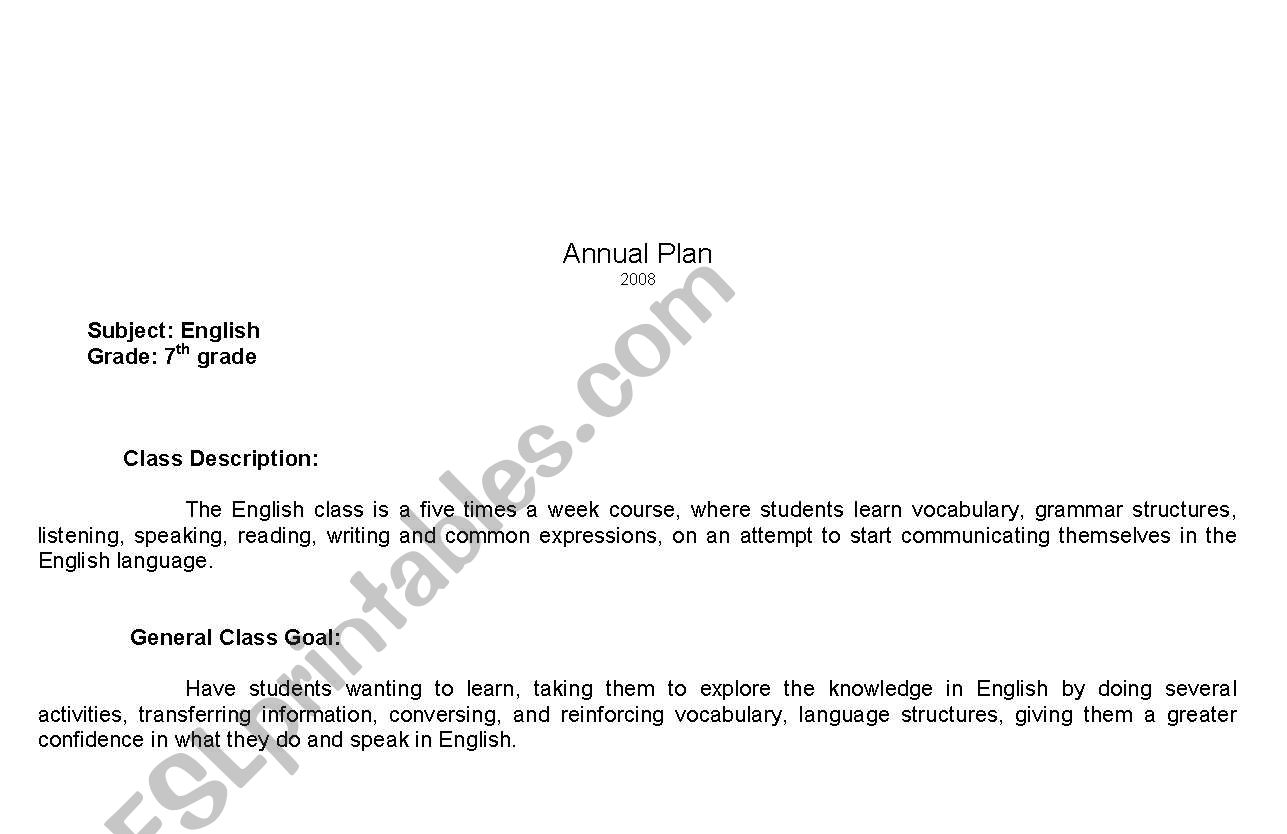English Worksheets English Class Plan For Spanish Speakers