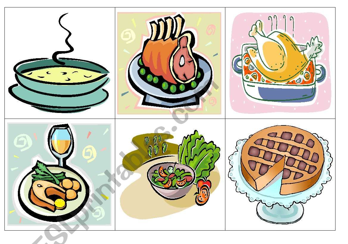 Lunch Flash Cards