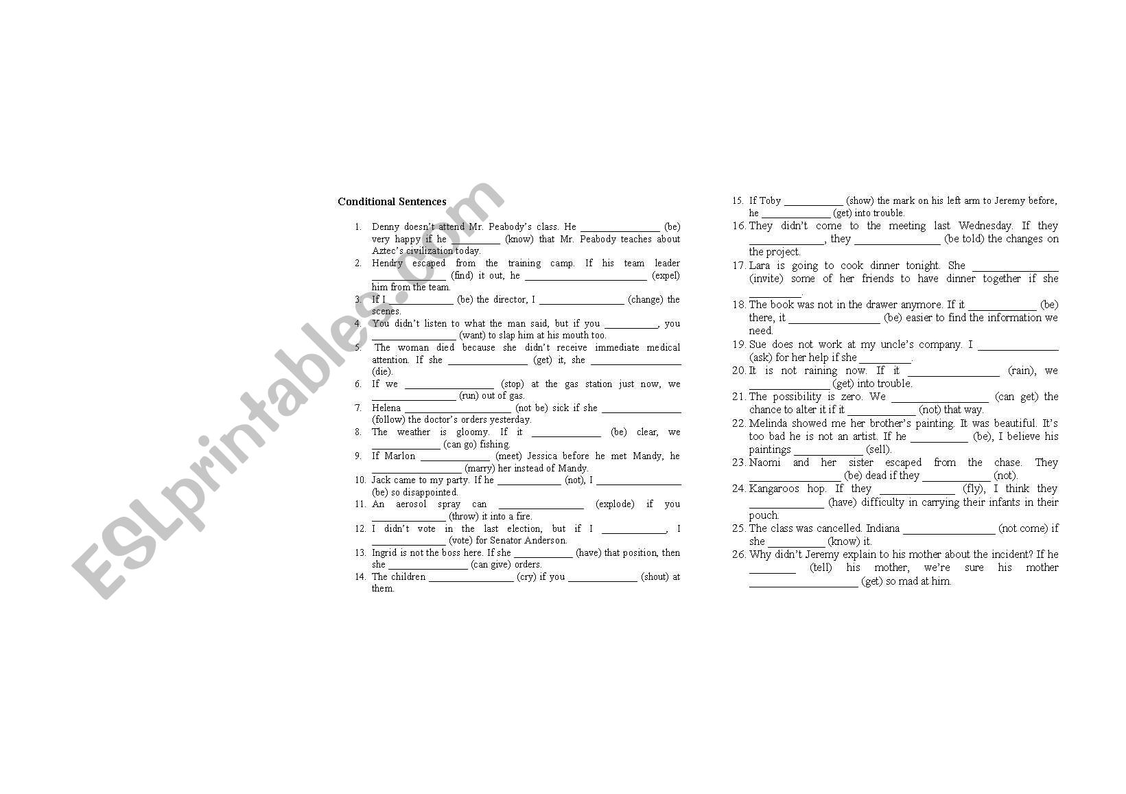 Conditional Type 1 2 3 Exercise