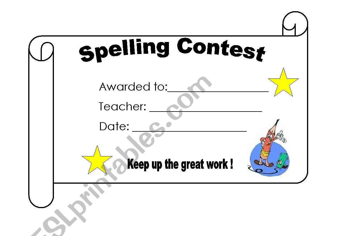 Spelling Contest