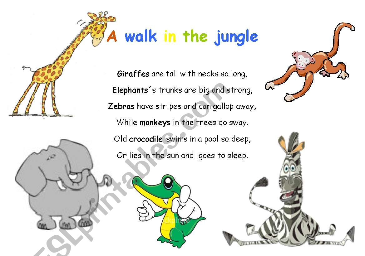 A Walk In The Jungle Action Rhyme