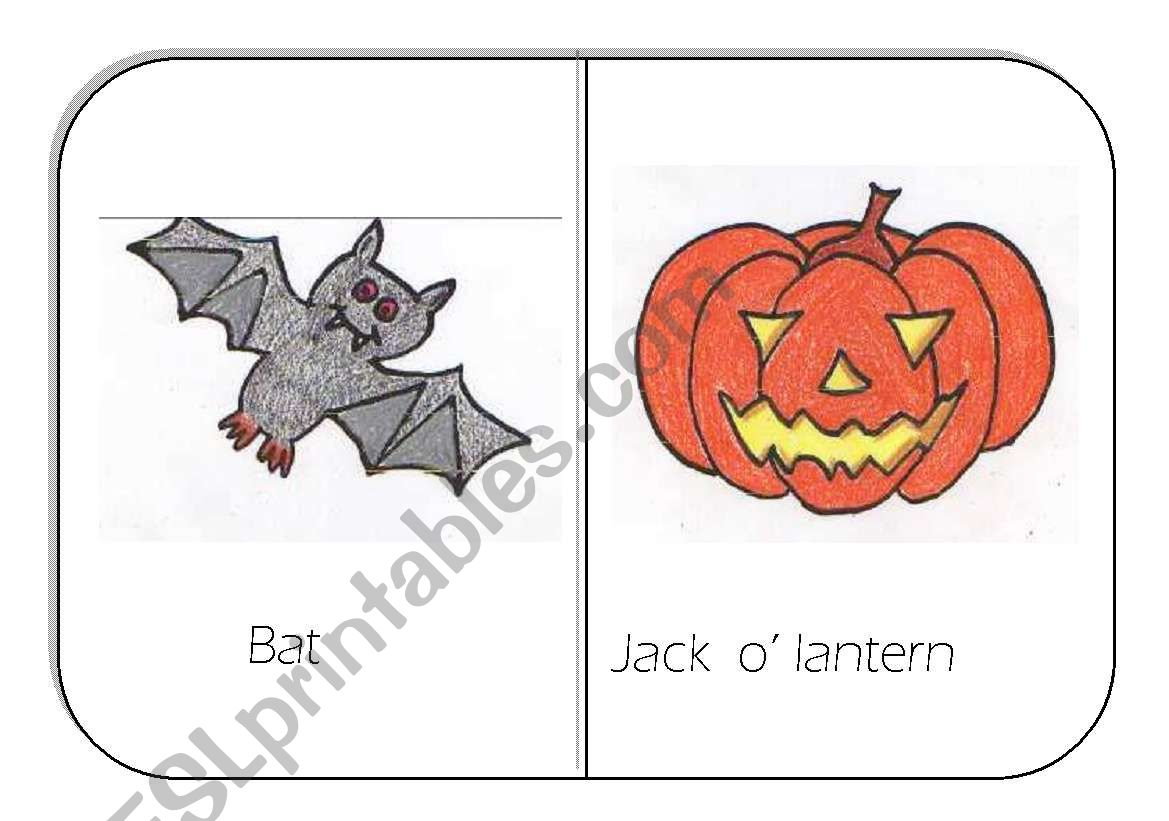 Hallowe En Flashcards For Young Learners Sheet 3