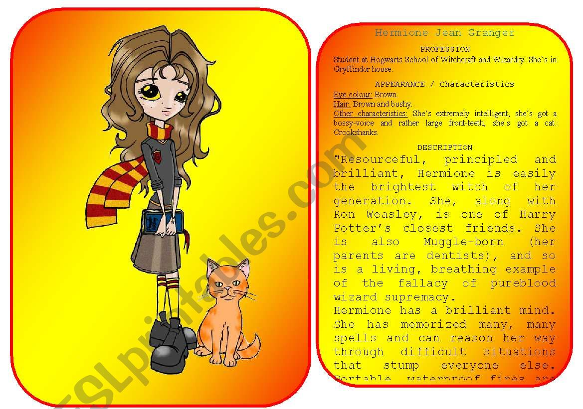 Harry Potter S Characters Flashcards Pictures And