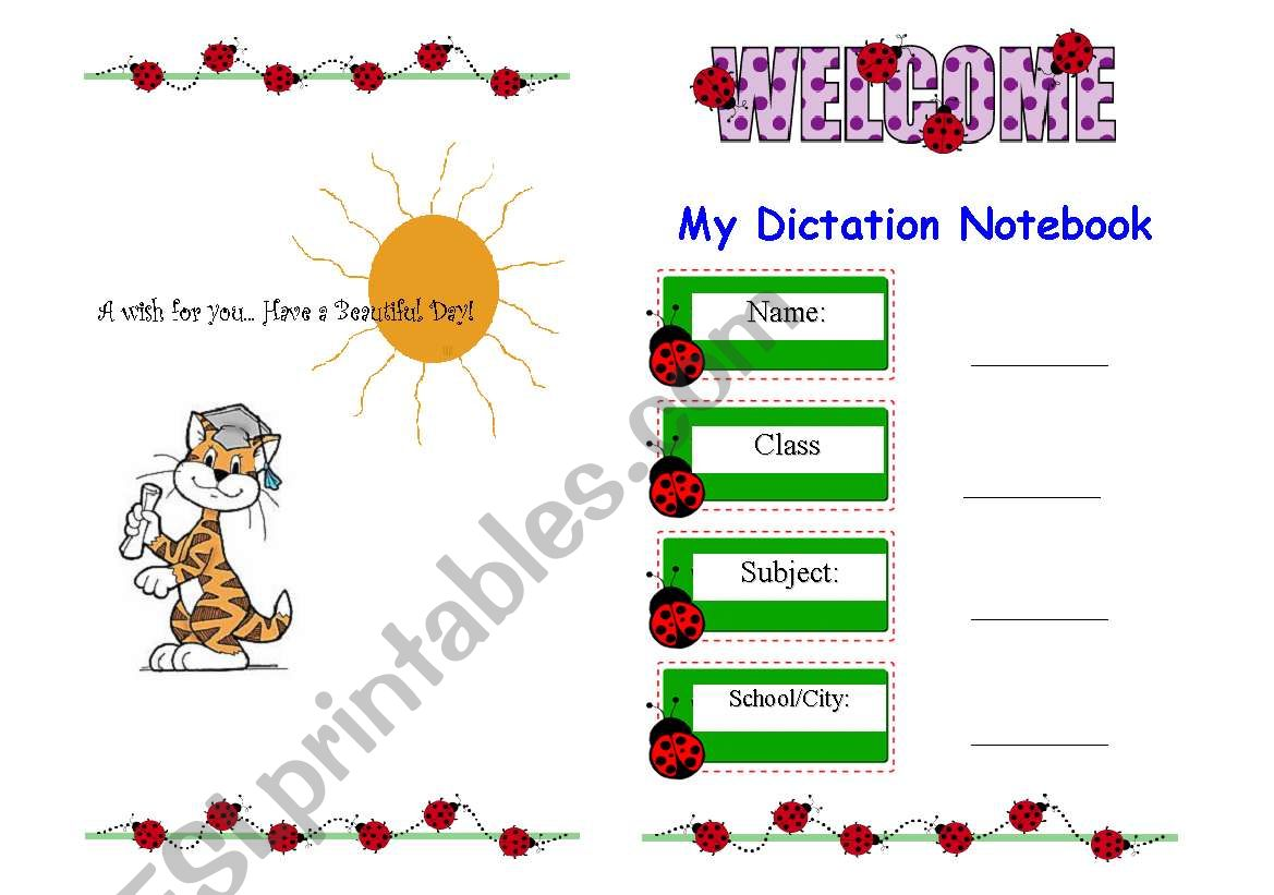 Dictation Notebook Cover