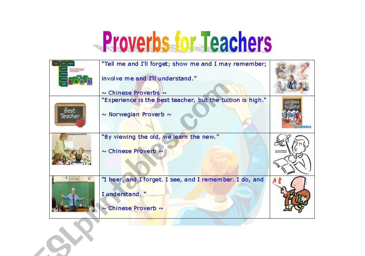 Proverbs For Teachers