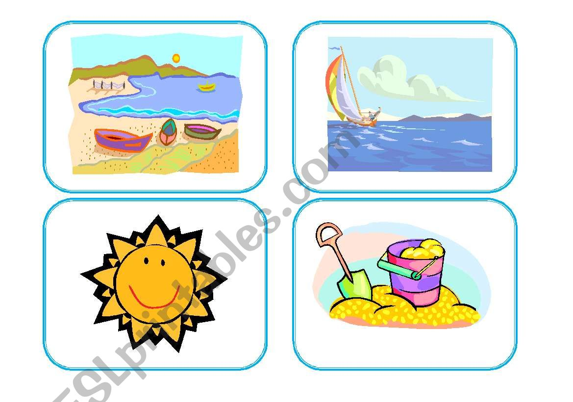 At The Beach Flashcards