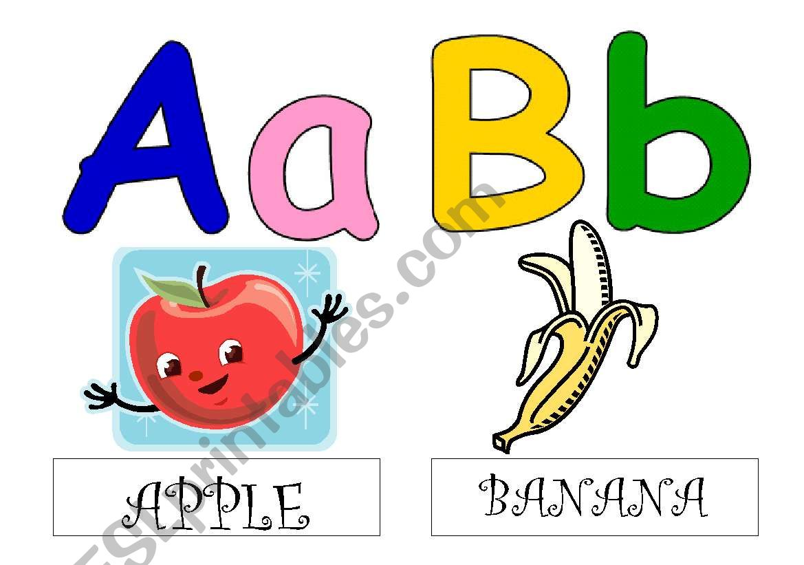 Alphabet Flashcards With Drawings And Words 1 6