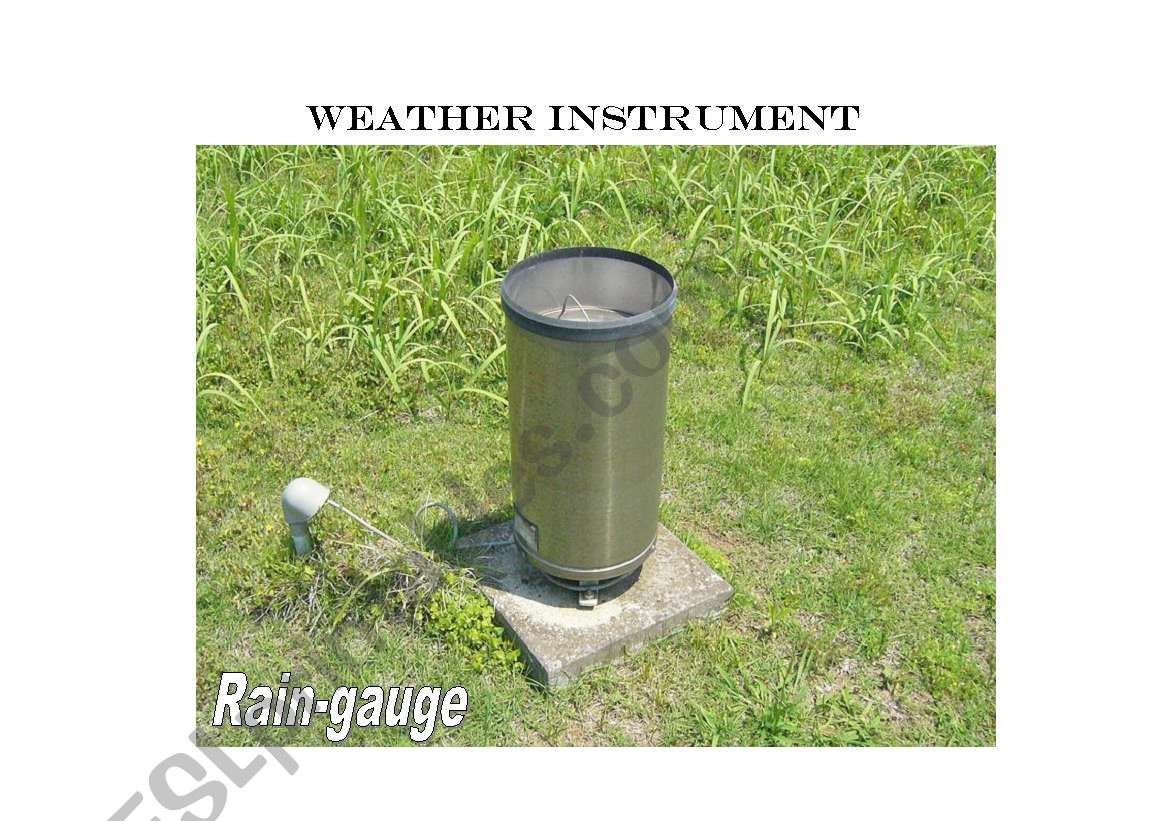 English Worksheets Weather Instruments