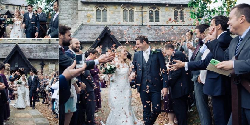autumn diy country wedding confetti petals