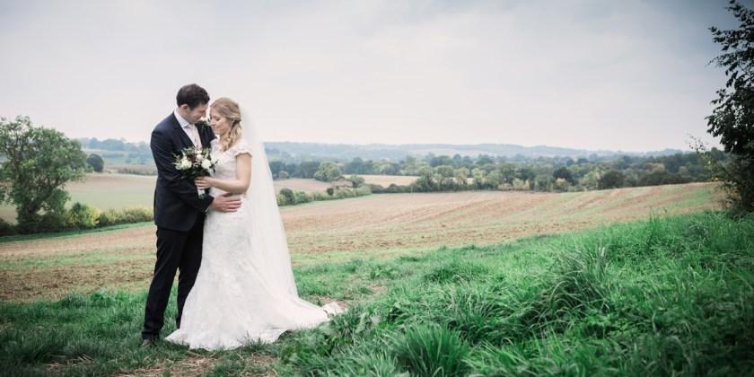 bride and groom country rustic diy field