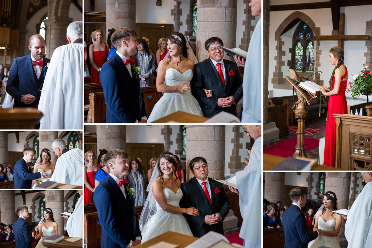 Wedding Ceremony at Chaddesley Corbett Church