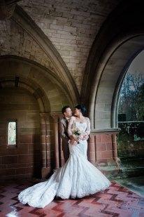 glamourous wedding vintage coombe abbey couple portraits