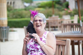 guest laughing natural relaxed wedding warwickshire