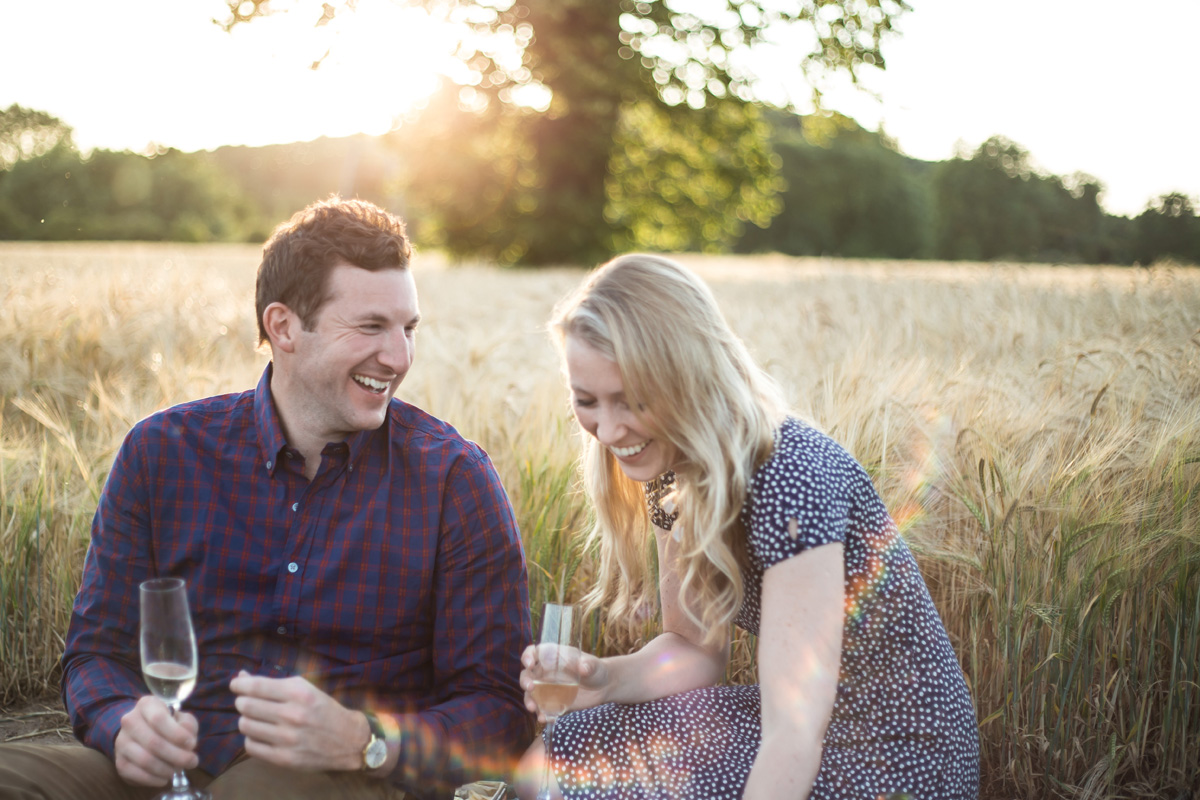 Rustic Wheat Field Pre Wedding Shoot