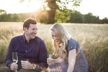Rustic Wheat Field Pre Wedding Shoot