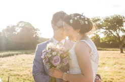glowing portrait contemporary relaxed wedding photography sun flare natural relaxed