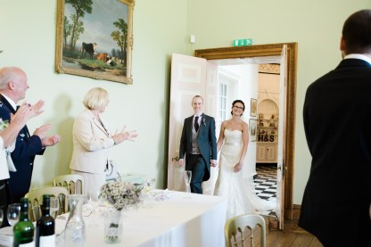 Bride and Groom Enter Wedding Breakfast Room