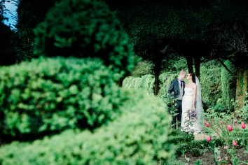 Private moment bride and groom, candid relaxed wedding walled garden Kelmarsh hall