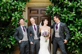 Wedding Photos With Bridal Party at Kelmarsh Hall