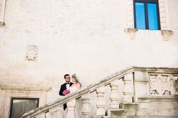 Castle Ceglie Messipica South Italian Wedding bride and groom