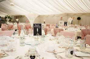 Marquee decorations Dunchurch Park Dusky Pink