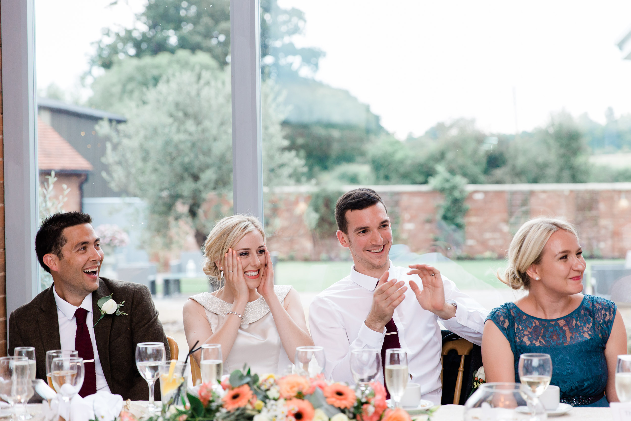 wedding breakfast speeches at swallows nest barn