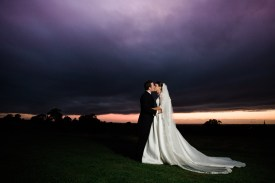 sunset bride and groom home farm daventrry