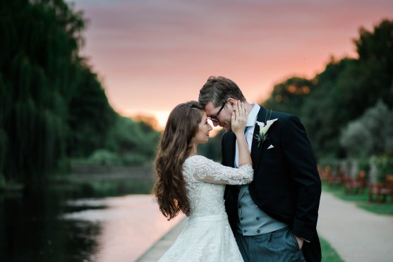 Coombe Abbey Wedding Photography Sunset Bride and Groom