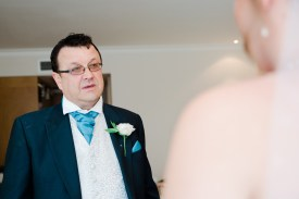 father of the bride sees daughter for the first time