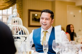 documentary candid wedding photography guest laughing