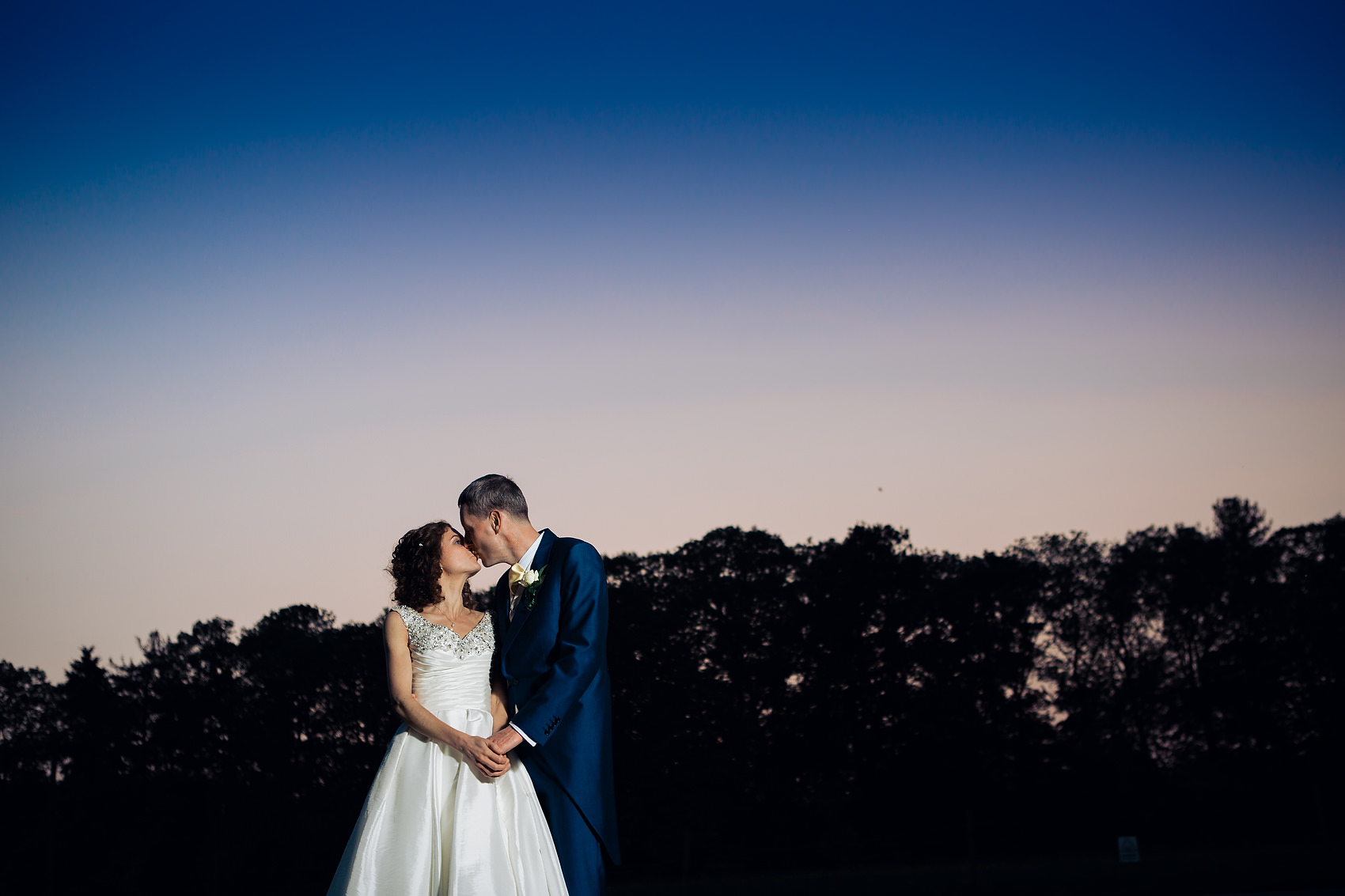 Sunset Photo Bride and Groom Kenilworth Warwickshire