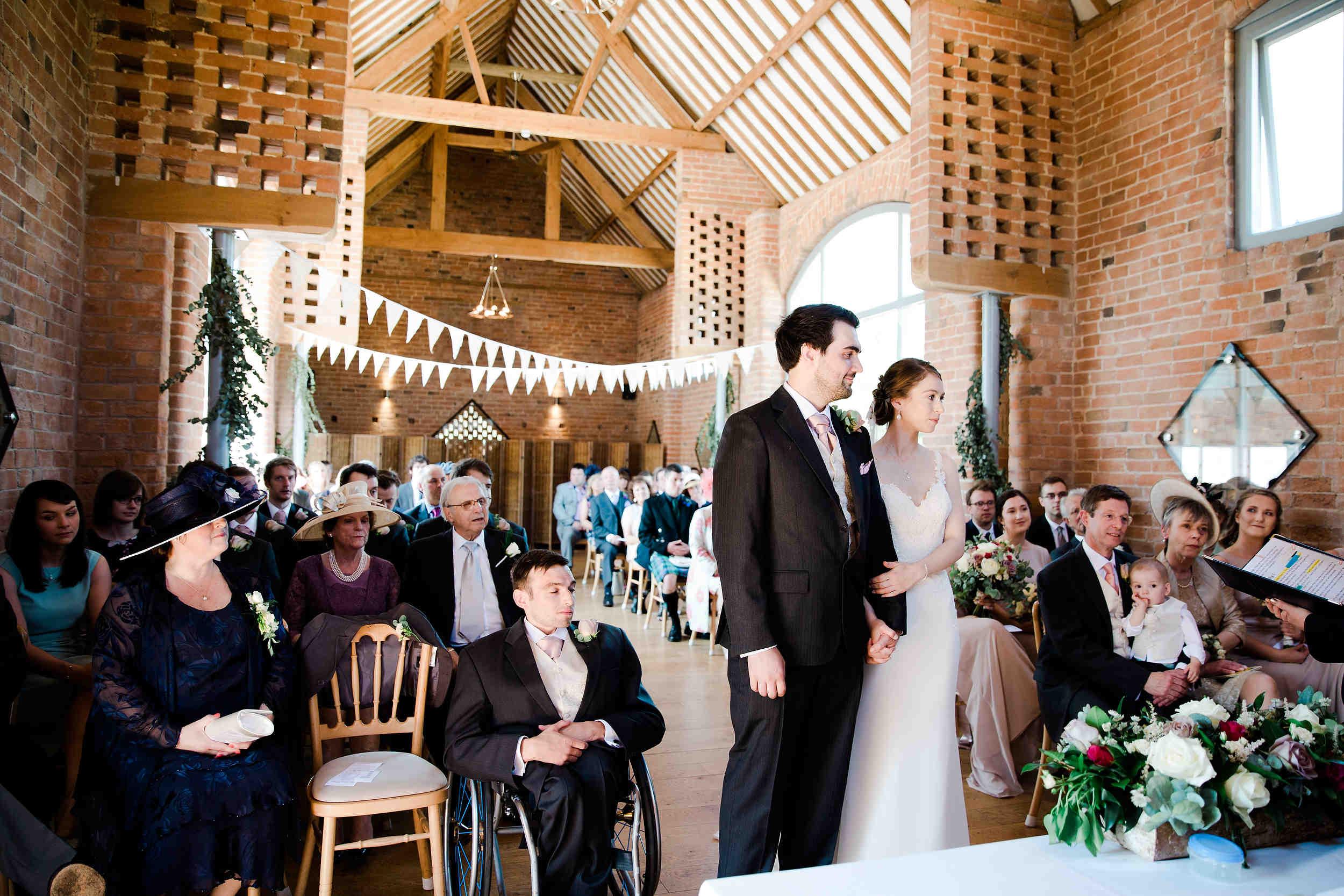 wedding ceremony swallows nest barn