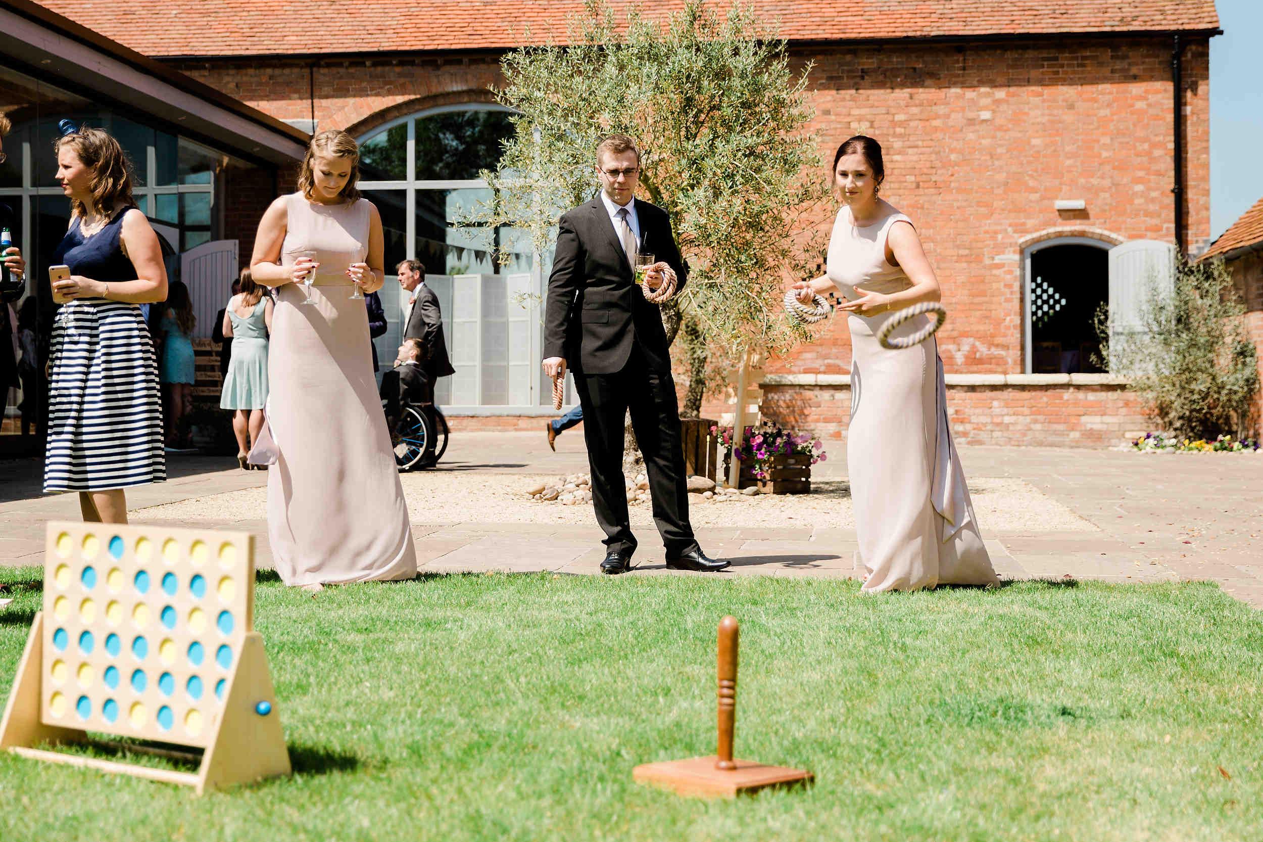 Garden game stick and hoop wedding swallows nest