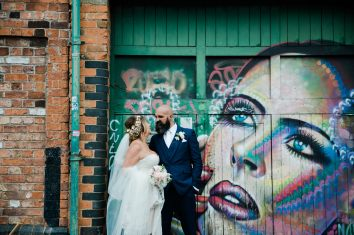 Glamorous Alternative Wedding at Fazeley Studios060