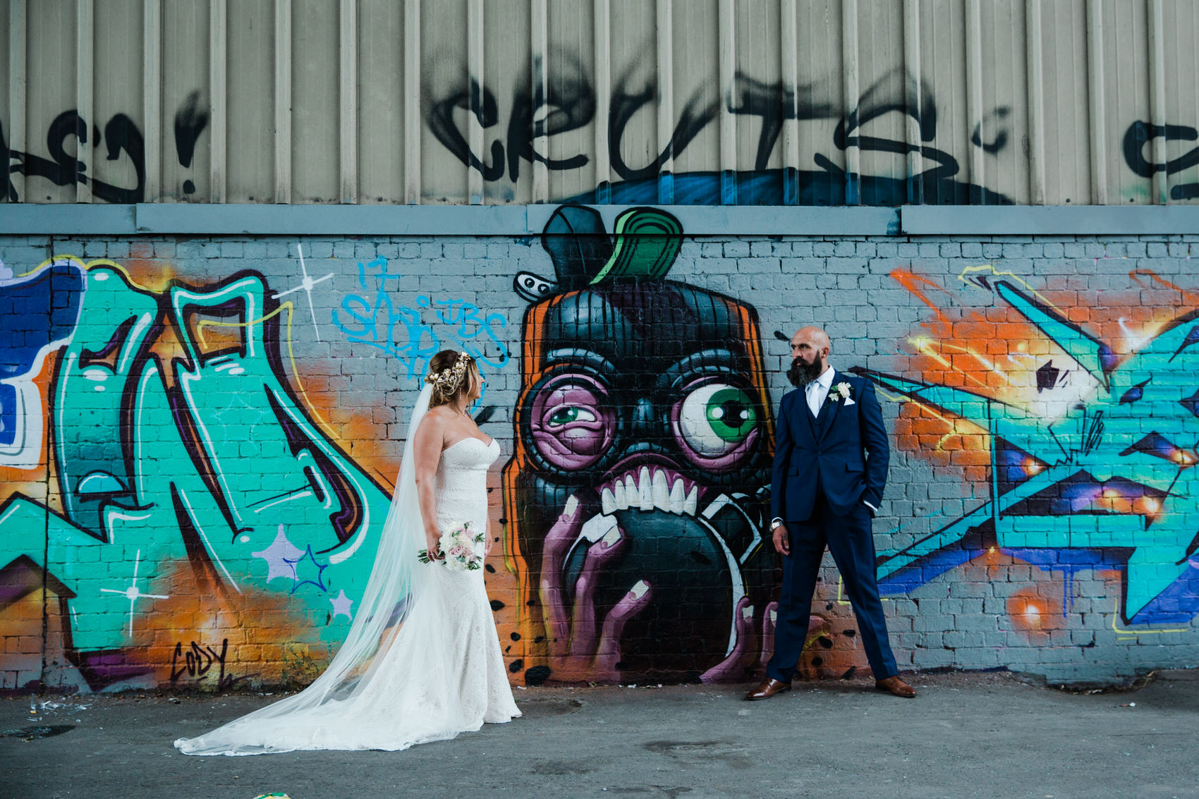 Glamorous Alternative Wedding at Fazeley Studios061