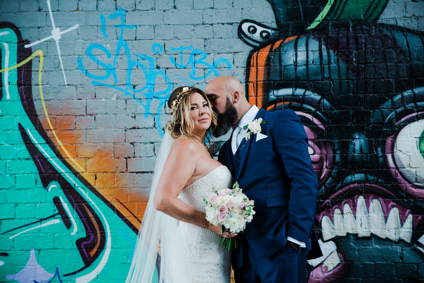 Glamorous Alternative Wedding at Fazeley Studios062