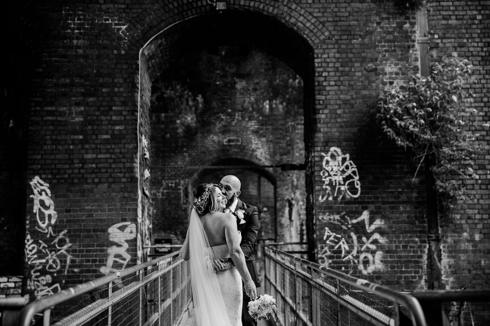 Glamorous Alternative Wedding at Fazeley Studios