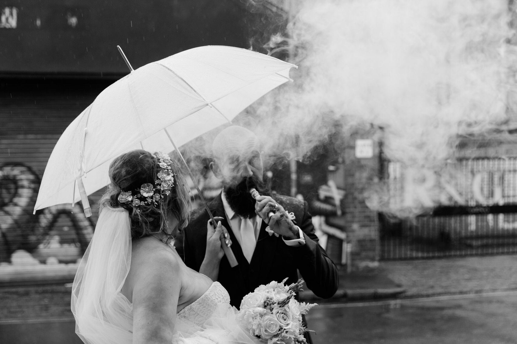 Glamorous Alternative Wedding at Fazeley Studios073