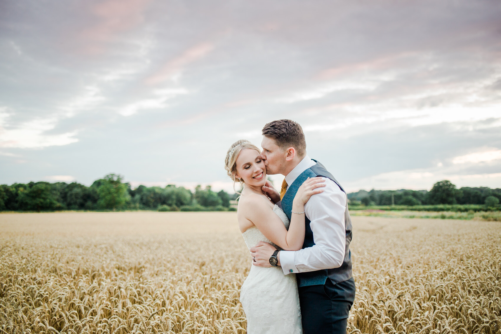 Yellow And Blue Rustic Barn Wedding