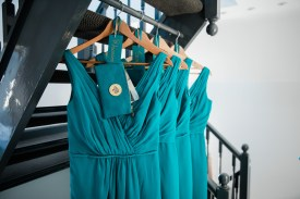 turquoise bridesmaid dresses natural relaxed wedding Leamington Spa Relaxed Church reportage photography
