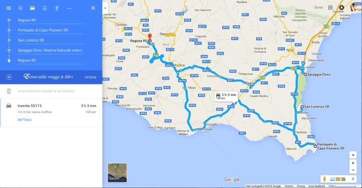 itinerario da portopalo a riserva di vendicari