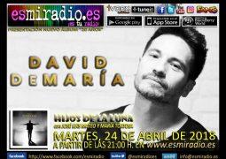 David DeMaría el Martes, 24 de Abril de 2018 en esmiradio.es