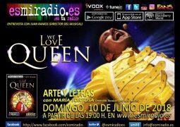 We Love Queen con Juan Ramos el 10/06/18 en esmiradio.es
