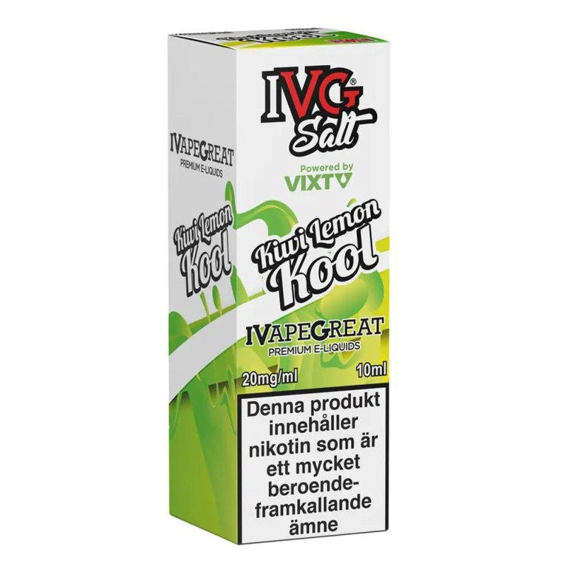 Kiwi Lemon Kool från I VG (10ml, 20mg, Nikotinsalt)